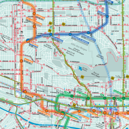 Montreal Subway Map Scale.Catbus Blog Archive Explore Two Montreal Transit Maps 70 Years Apart